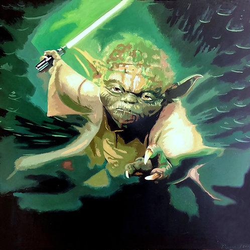 Meister Yoda mit Laserschwert