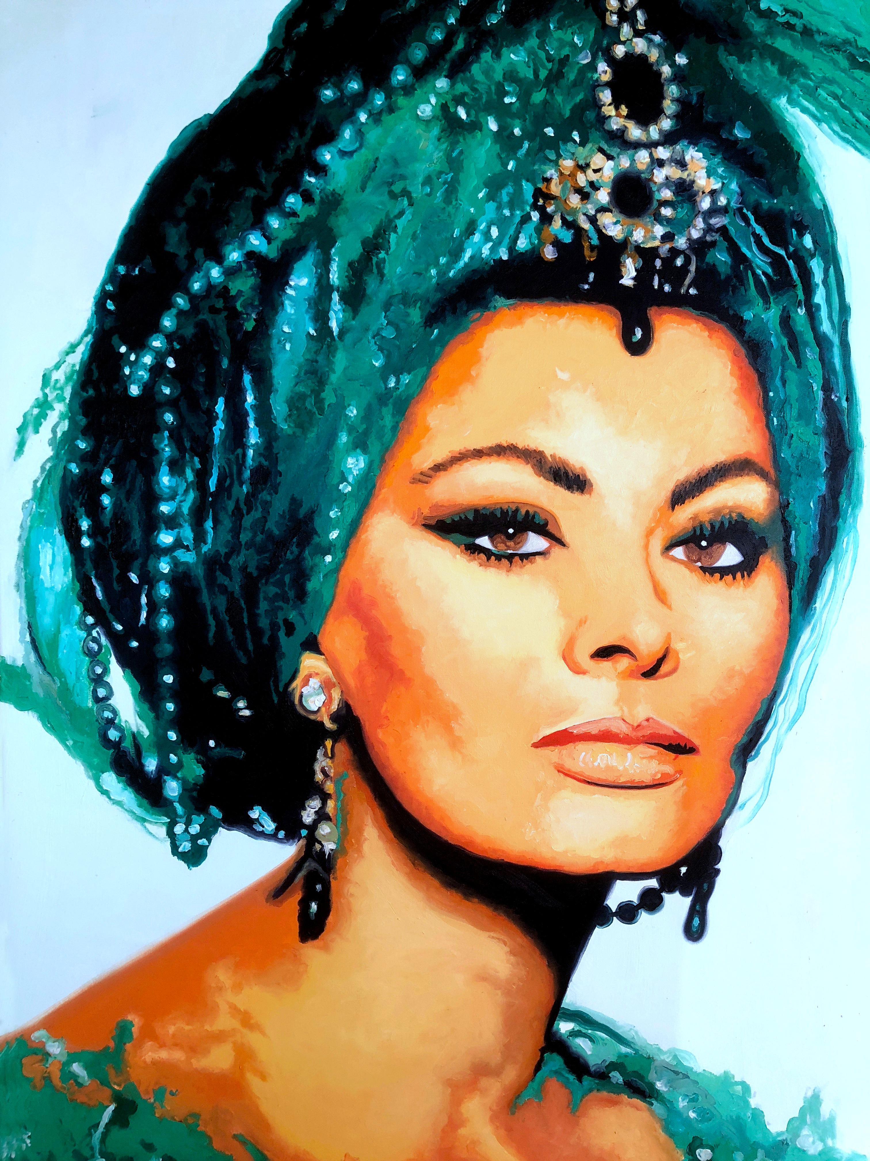 Sophia_Loren_Öl_auf_Leinen_80_x_100_cm