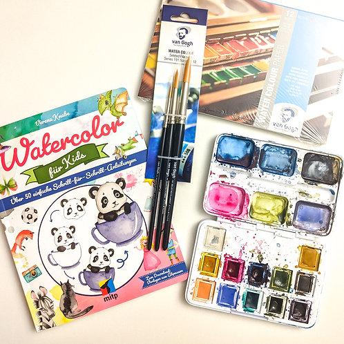 Geschenkset Watercolor für Kinder
