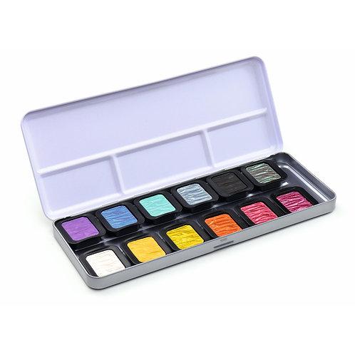 Finetec Perlglanz Aquarellfarben - Rainbow (12er Set)