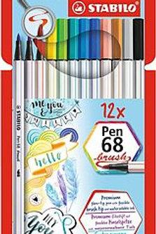 Pen 68 brush 12er Set