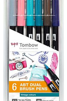 Tombow ABT 6er Set Vintage Colors