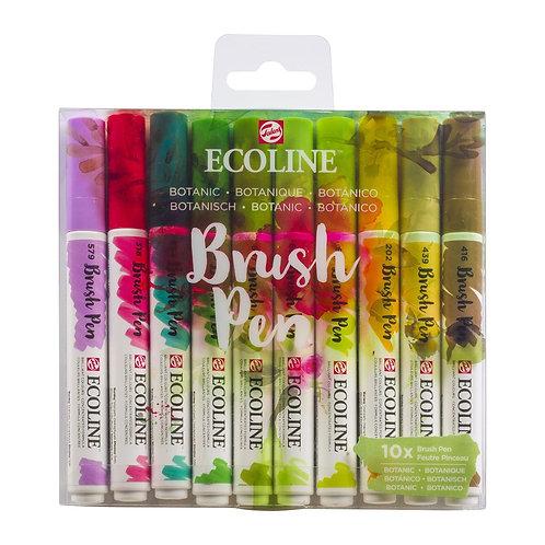 ECOLINE Brush Pen Botanic 10er Set