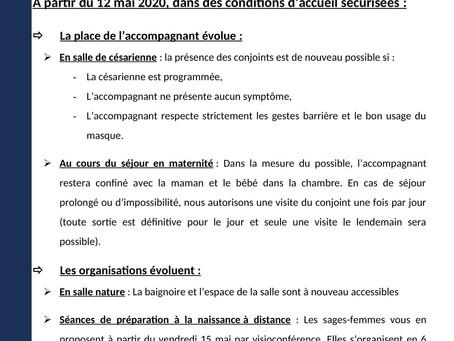 [Covid-19] Nouvelles modalités d'accueil pour le co-parent à la maternité d'Hazebrouck