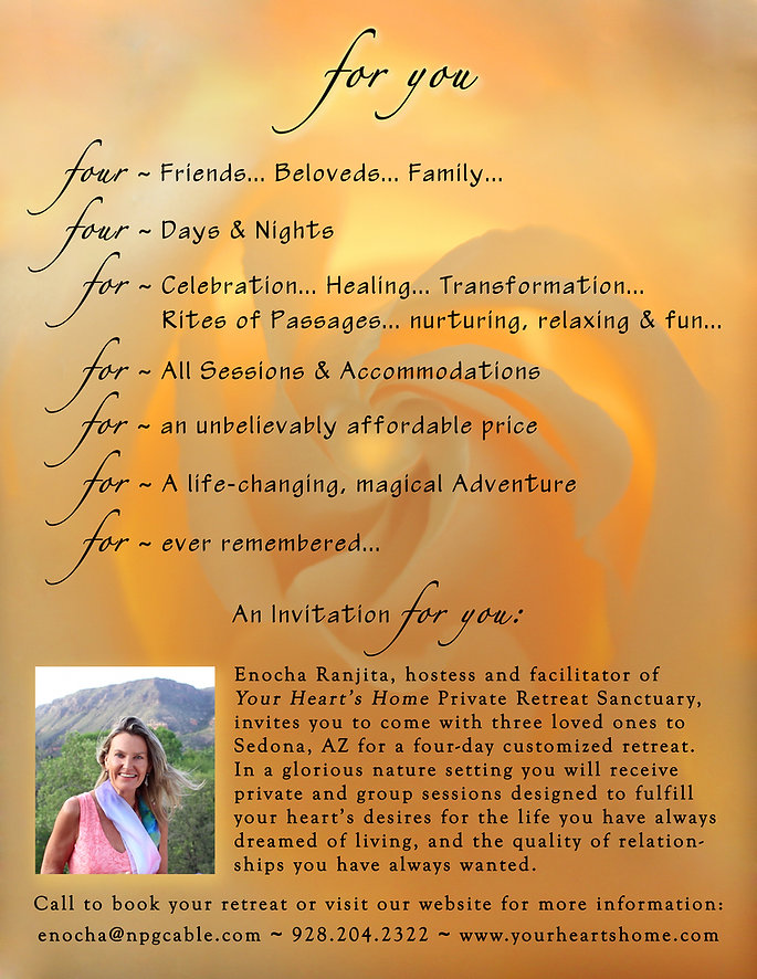 """For You"" Retreats at Your Heart's Home in Sedona"