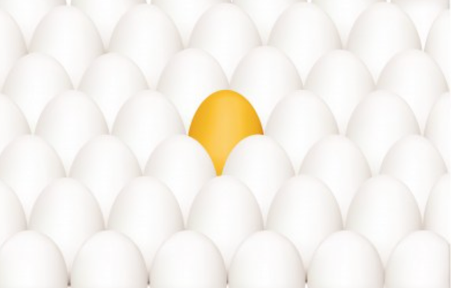One egg stands out as being different.