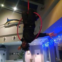 Aerial Hoop in a Suit