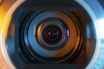 Objectif de la caméra vidéo