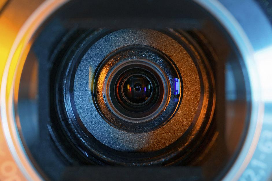 Lente da câmera de vídeo