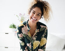Femme avec motif de fleur T-shirt