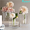bình thủy tinh căm hoa để bàn