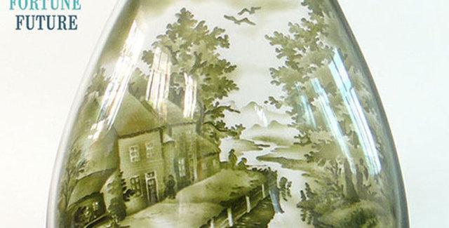 Bình hoa trang trí hình đồng quê
