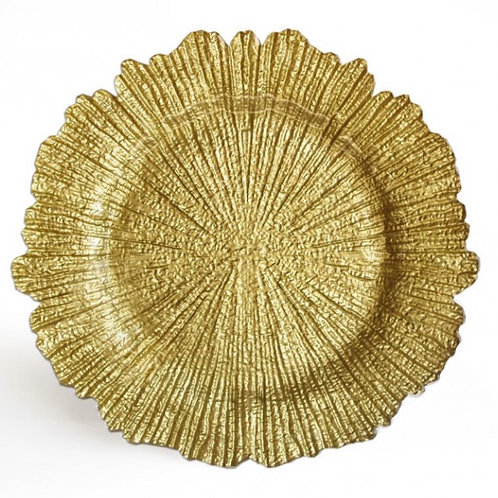 Gold Leaf Glass Charger