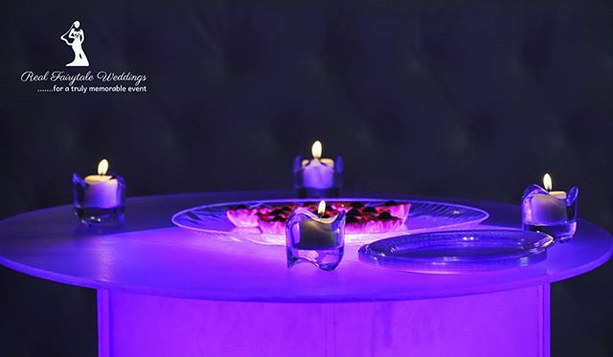 Our famous LED Cocktail table took center stage with the color highlighting the cocktails