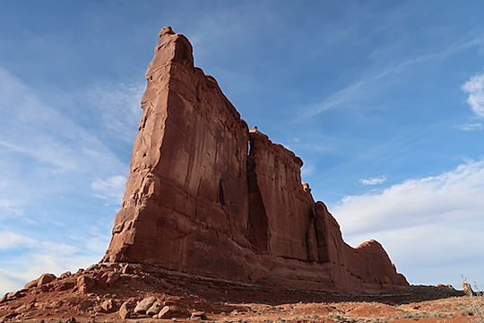 Courthouse Rock i Arches. www.drivingusa.dk