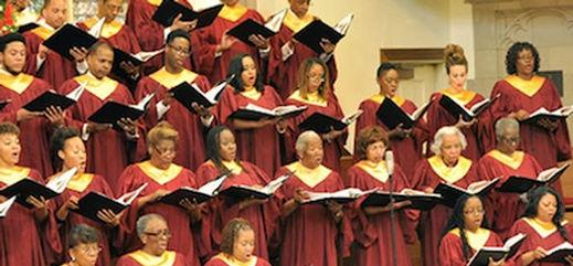 Gospel i Harlem, New York