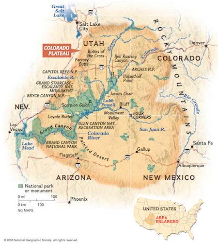 Colorado plateauet i Arizona og Utah
