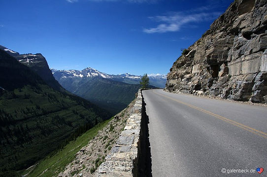 Going to the sun road, Glacier Nat. Park. Roadtrip ruter og nationalparker i USA