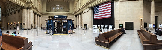 Chicago togstation. Union Station, Roadtrip ruter og nationalparker i USA