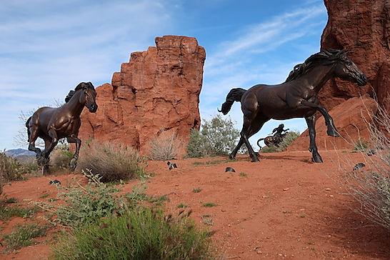 """""""Vilde heste"""" i Snow Canyon.jpg"""