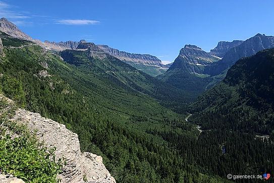 Glacier National Park. Going to the sun road. Roadtrip ruter og nationalparker i USA