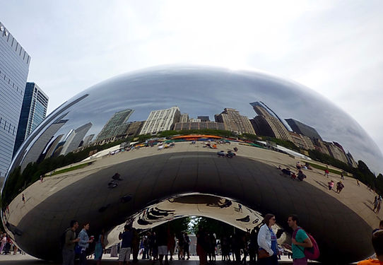 Bønnen i Chicago. The Bean, Roadtrip ruter og nationalparker i USA