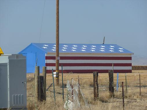 Amerikansk hus i nationalfarver
