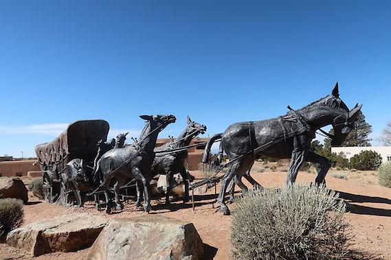 """På Museum Hill, med """"The spanish Trail"""""""