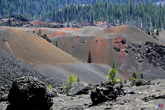 Lavasten fra Cinder Cone vulkanen.