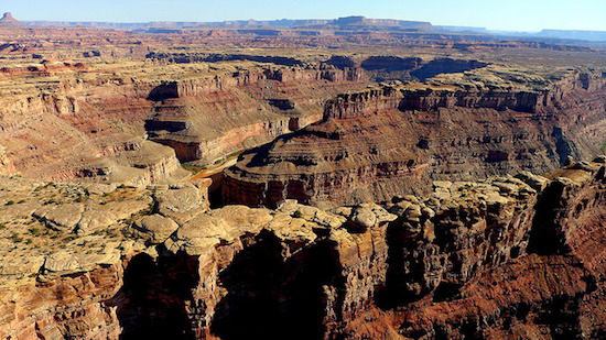 Canyonlands med helicopter.