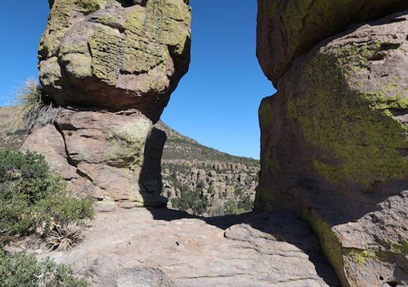 Apache indianerne søgte tilflugt iChiricahua National Monument.