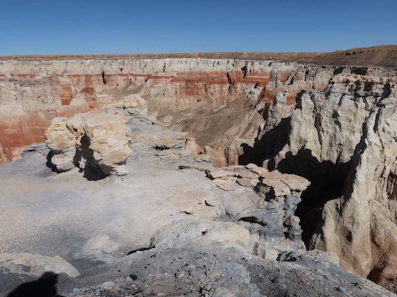 Området ligger på kanten af Painted Desert, Arizona.