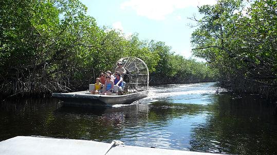 Airboat i Everglades. Roadtrip ruter og nationalparker i USA