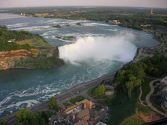 Udsigt fra Skylon Tower. Niagara Fall's, Roadtrip ruter og nationalparker i USA