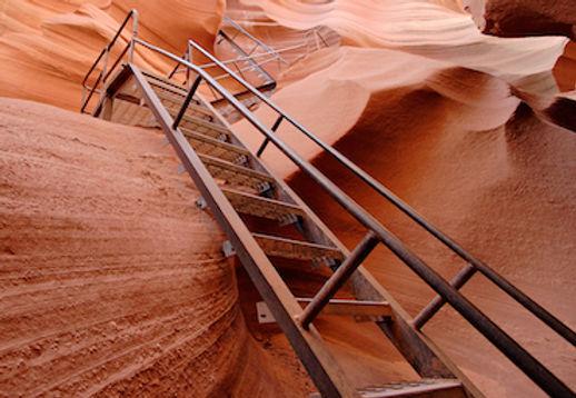 Trappen ned til Antelope Canyon