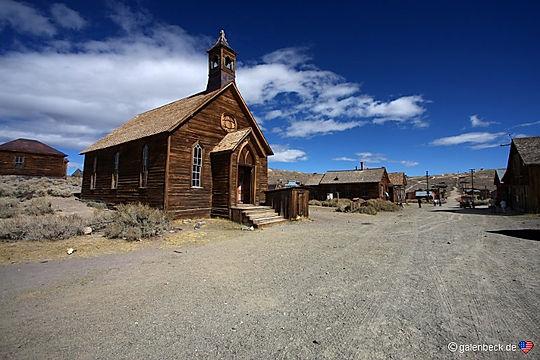 Kirke i Bodie Ghosttow. Drivingusa.dk