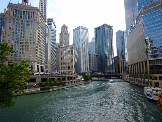 Downtown Chicago. Sejltur Chicago, Roadtrip ruter og nationalparker i USA