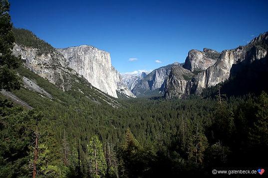 Udsigt fra Tunnel View, Roadtrip ruter og nationalparker i USA