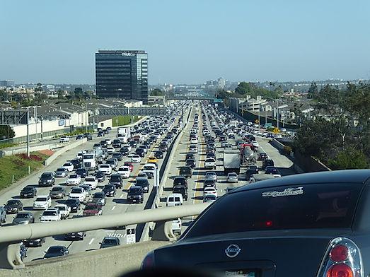 Trafik kaos i LA