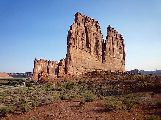 Gigantiske klippevægge i Arches Nationalpark. Roadtripruter og nationalparker i USA