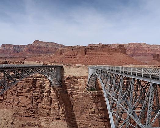 Navajo Bridge, ved Lee's ferry, Arizona. www.drivingusa.dk