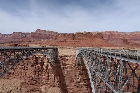 Navajo Bridge over Coloradofloden.. drivingusa.dk