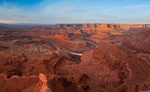 Solnedgang ved Dead Horse Point. Canyonlands, Drivingusa.dk - Roadtrip i USA
