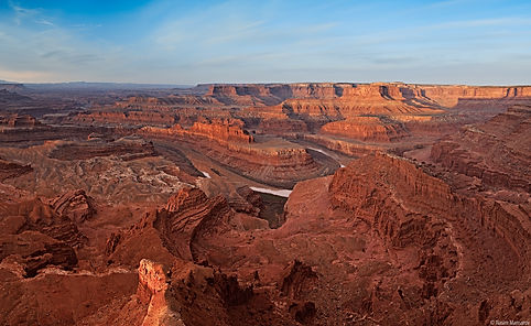 Solnedgang ved Dead Horse Point. Canyonlands, Drivingusa.dk - Roadtrip i USA