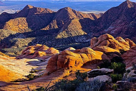 Yant Flat i Utah, med tilnavnet Candy Cliffs.