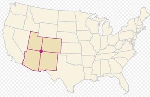 Defire stater Utah, Colorado, New Mexico & Arizona.