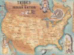 Kort over indianerstammer i USA. Drivingusa.dk