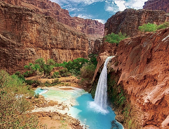 Havasupai Falls.Roadtrip ruter og nationalparker i USA