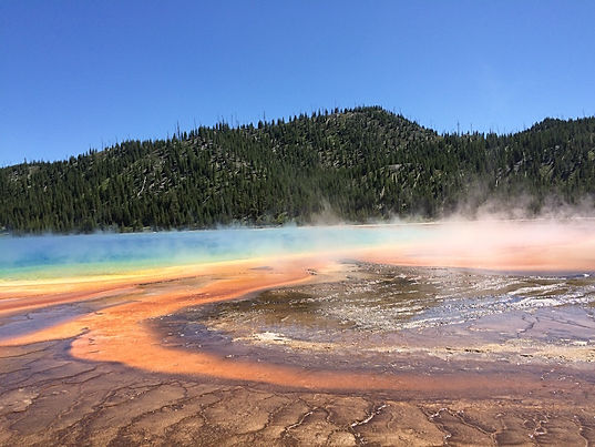 Grand Primatic Springs. Yellowstone. Roadtrip ruter og nationalparker i USA