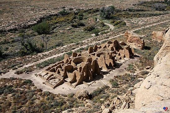 Ruinbyen Chaco Culture National Historical Park. Drivingusa.dk
